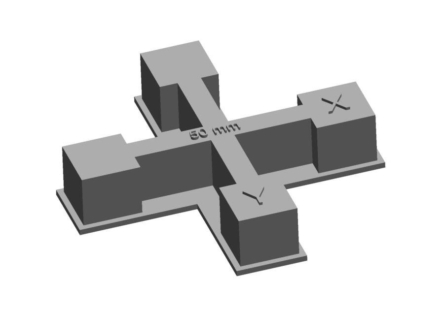 Resin calibration cross